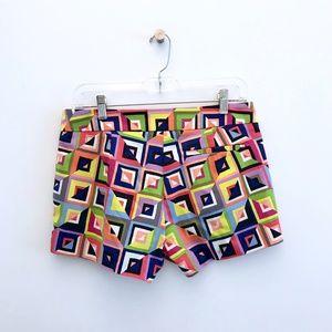 Trina Turk Shorts - Trina Turk Corbin 2 Shorts Multicolor Squares